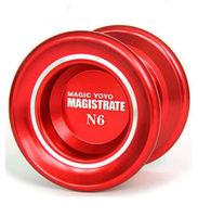 Free shipping  Magic YoYo N6 Magistrate Red Alloy Metal Aluminum Professional Yo-Yo ball toys +2 Strings high quality