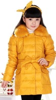 Children's clothing child down coat medium-long female child baby female child down coat thick down jacket