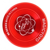 Free shipping Magic YoYo N8 Dare To Do Red Alloy Metal Aluminum Professional Yo-Yo ball with 2 strings best choose