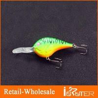 2013 New Plastic Fishing Lures Two Hooks Crank Baits Plastic Hard Bait Plastic ,13g/9cm Fishing Gear