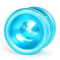 free shipping Magic Yo Yo T6 Rainbow Blue Aluminum Alloy Metal Professional Yo-Yo ball with 2 Strings for child gift