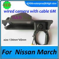 CCD Car rear back camera For Nissan March night vision Effective Pixels 728*582 170 degree angel Reversing car camera