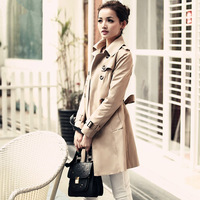 women's spring and autumn outerwear fashion elegant slim trench windbreaker free shipping
