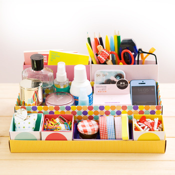 Diy Cosmetics Desktop Paper Storage Box Finishing Box Office Stationery Storage Accessories And Organizer Stationery Holder