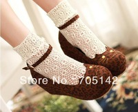 Free shipping! Fashion sexy leopard and black wome/lady shoes,  soft cat face&buckle design platform shoes in spring&autumn