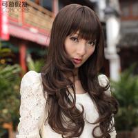 Wig girls curly hair long bangs qi fluffy wavy fashion egg rolls wigs