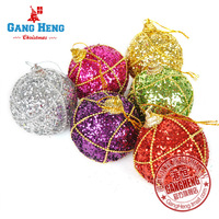 Free Shipping Christmas tree 5cm bonder around the bead quality luxury foam christmas ball 6 50g