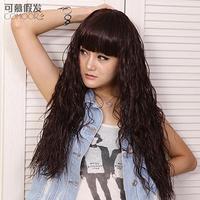 Wig non-mainstream corn roll the oligomerization curly hair fluffy bangs , high temperature wire egg rolls