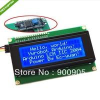 10PCS/Lot  Serial IIC/I2C/TWI 2004 204 Character LCD Module Display  free shipping