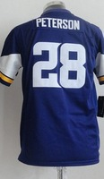 2013 New Youth 28 Adrian Peterson  American football Jersey,Cheap  kids Sports Jersey,Embroidery logos,Mix order