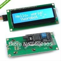 10PCS/Lot  IIC/I2C/TWI 1602 Character Serial LCD Module Display in Blue  free shipping