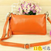 2013 Women women's cowhide genuine leather handbag day clutch bag clutch one shoulder cross-body bag women leather handbags