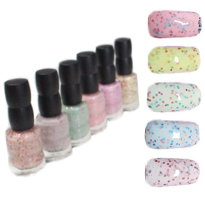 Temix yogurt nail polish oil candy color paillette nail polish yogurt nail art 15ml(China (Mainland))