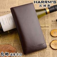 free shipping Harrms Men wallet large capacity genuine leather male wallet men's wallet cowhide long wallet