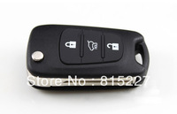 Hot Promotion Kia K2 K5 3 Buttons Flip Remote Key Shell Case Replacement Car Keys Blank Cover + Free Shipping