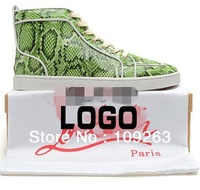 men red bottom shoes brand green and 7color Serpentine sneakers Have Logo Quality well FREE SHIPPING MX#127