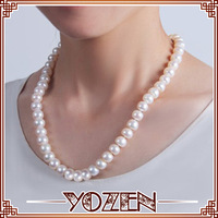 button shape pearl 2013 necklace statement