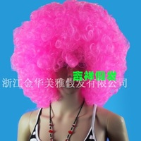 Wig plus size fluffy dayses afro show props clown bubble personality