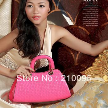2013 classic fashion women handbag leather shoulder bag, high quality ladies tote bag versatile leather bags free shipping