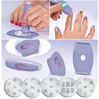 Free Shipping 1PC Pro Salon Nail Art Stamp Stencil Polish Nail Stamping Decorate DIY Tool A2266