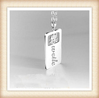 925 sterling silver personalized name plate necklace free shipping-custom by any name