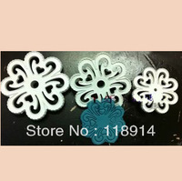 WHOLESALE free shipping 3PCS plum blossom fondant cutter, hollow design cake decoration tool set(TH-50)