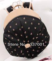 2013 new wave of student backpack shoulder bag satchel bag Korean fashion style hat Floral College Wind handbag