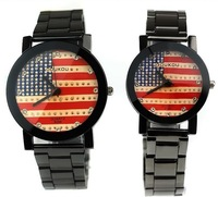 2013, the new south Korean American flag steel band watch fashion and personality