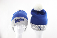 Dodgers LA logo Beanie hats Fashion headwear Street hip hop mens winter knitted caps Free shipping