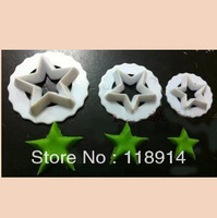 WHOLESALE free shipping 3PCS star fondant plunger cutter, cake decoration tool set(TH-54)