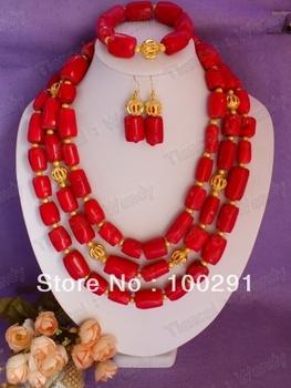 Free ship! Fashion jewelry stone coral jewelry set necklace bracelet earrings 222