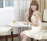 2013  Women's Free Shipping Cheap Simple Charming Gallus Sleepwear Yellow JY13030310