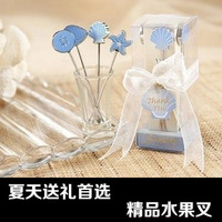 Lovely stainless steel fruit fork kit household supplies small gift 4pcs/box