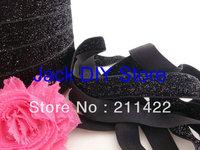 5 Yards Black Glitter Elastic 5/8 Inch  for headband Hair Accessories