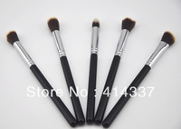 5PC Cosmetics Foundation Blending Brush Blush Kabuki Makeup Tool Set Kit