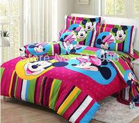 New Arrivals Cartoon Kids 100% Cotton Quilt Cover Bedspreads Set Queen Full Size 4 Piece Children's Bedding Sets Christmas Gifts