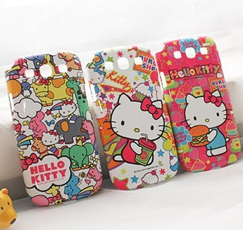 Hellokitty  for SAMSUNG   i9300 9300 mobile phone case leather case i9308 s3 phone case protective case