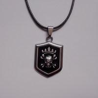 Vintage fashion accessories male hangings titanium short design necklace pirate skull pendant