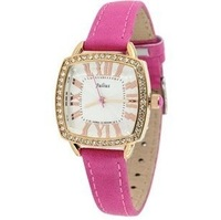 Lady's Free Shipping Wholesale fashion leather strap quartz watch ,Crystal Women dress watches