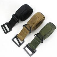 Free shipping! Hot sale! Men's black hawk canvas belt outdoors climbing casual belt for men