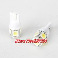 500pcs/lot T10 White 5050 SMD 5LED 168 194 W5W Wedge Car Light Bulb Lamp 12V