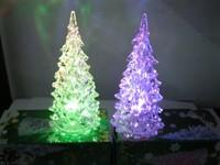 Free shipping Acrylic crystal colorful small night light Christmas gift