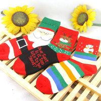 Socks female autumn and winter cartoon socks thickening thermal christmas socks new year gift