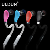 ULDUM new style leaf shape with noodle wire in-ear earphone with microphone for mobile phone