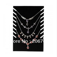 Free Shipping (3pcs/lot) Wholesale Black Necklace Jewelry Display Rack 8 Necklaces holder