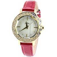 2013 New Fashion Full of crystal  ladies leather watches, 5 colors classic women wedding gift Free Shipping