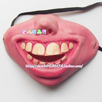 Free Shipping 2013 New Hot Funny Masks Halloween /Christmas /Cosplay Pary  Masquerade Masks Half Face Smiling  Mask q-5