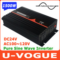 Free Shipping 1500W/3000W Pure Sine Wave Solar Inverter DC 24V to AC 100V 60Hz Power Inverter
