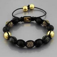 Authentic !  hand-woven Shamballa Bracelet Men Jewelry Bracelets & Bangles
