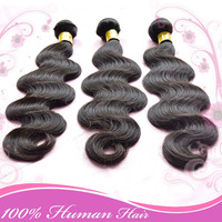 "Queen Hair products Malaysian virgin hair Body wave mixed 3 or 4pcs 12""-28"" Natural Black 100% Human hair weaves Free Shipping"